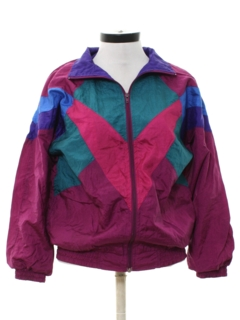 1980's Womens Totally 80s Hip Hop Windbreaker Jacket