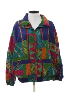 1980's Womens Hip Hop Style Wind Breaker Jacket