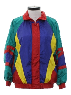 1980's Womens Hip Hop Windbreaker Jacket