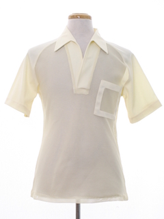 1960's Mens Mod Knit Sheer Mesh Shirt