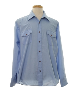 1960's Mens Mod Western Style Shirt