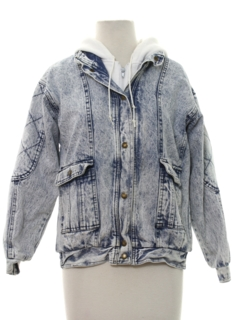 1980's Womens Totally 80s Acid Washed Jeans Style Jacket