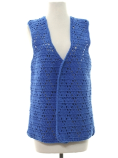 1970's Womens Crocheted Hippie Vest