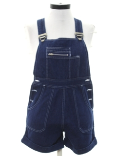 1980's Womens Totally 80s Bib Overalls Shorts