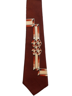 1950's Mens Abstract Geometric Necktie