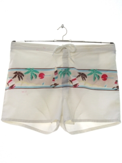 1980's Mens Totally 80s Board Surf Shorts