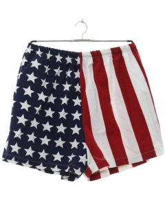 1980's Mens Totally 80s Flag Shorts