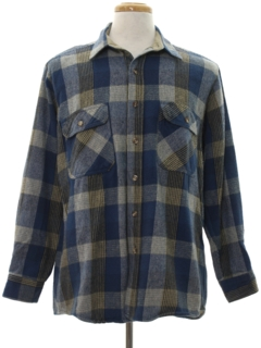 1990's Mens Plaid Flannel Shirt