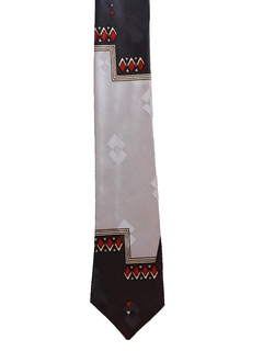 1950's Mens Mod Abstract Geometric Necktie