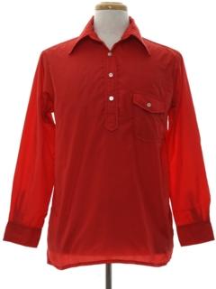 1970's Mens Windbreaker Style Ski Shirt
