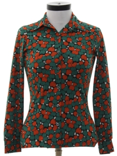 1970's Womens or Girls Print Disco Shirt