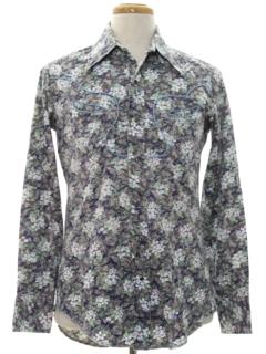 1970's Mens Western Hippie Shirt