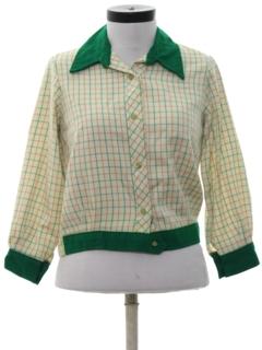 1970's Womens Mod Shirt-Jac Style Shirt