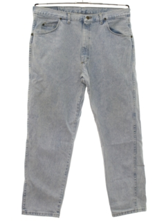 1980's Mens Acid Washed Denim Jeans Pants
