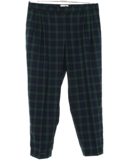 1980's Mens Totally 80s PLaid Golf Pants