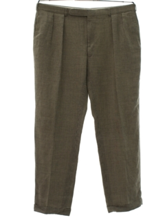 1980's Mens Totally 80s Pleated Preppy Slacks Pants