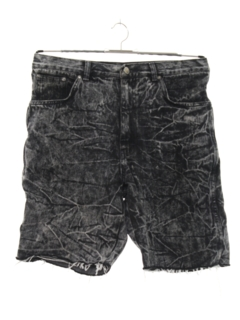 1980's Mens Totally 80s Style Acid Washed Denim Cut Off Jeans Shorts