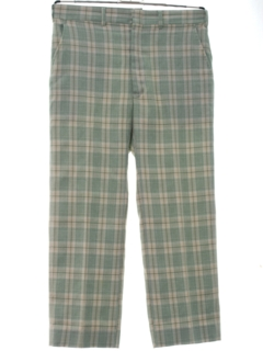1970's Mens Plaid Golf Style Disco Pants