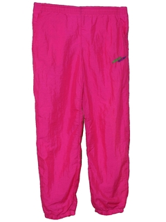 1980's Womens Totally 80s Style Neon Baggy Track Pants