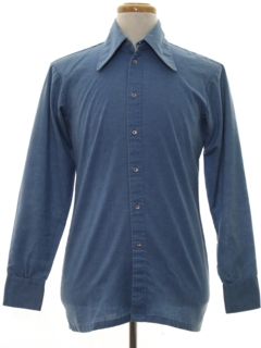 1970's Mens Chambray Sport Shirt