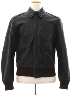 1980's Mens Bomber Leather Jacket