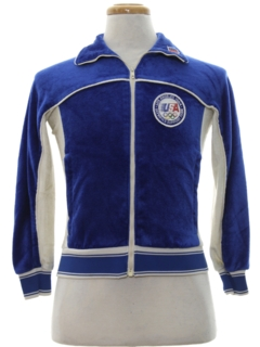 1980's Unisex Girls or Boys Totally 80s Track Jacket