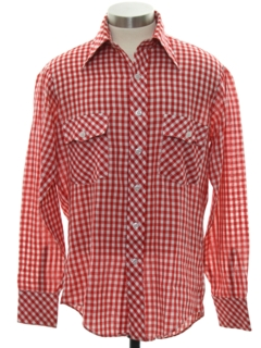 1970's Mens Western Style Mod Shirt