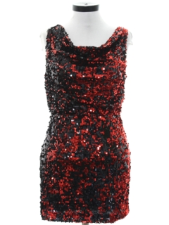 1990's Womens Sequined Prom Or Cocktail Mini Dress