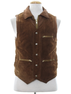 1980's Mens Suede Leather Vest
