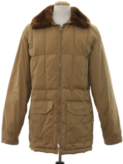 1980's Mens Ski Style Car Coat Jacket