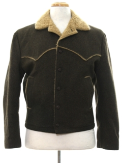 1960's Mens Mod Wool Western Jacket