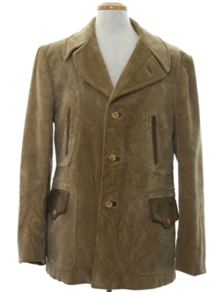 1970's Mens Mod Western Corduroy Car Coat Jacket