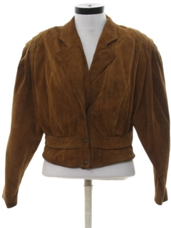 1980's Womens Totally 80s Suede Leather Jacket