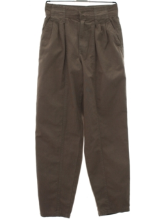1980's Mens Totally 80s Baggy Pleated Bugle Boy Slacks Pants