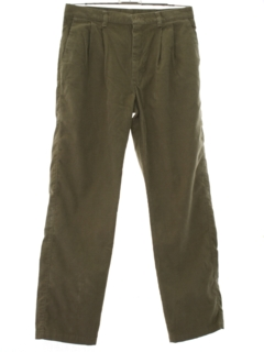 1980's Mens Totally 80s Pleated Corduroy Pants