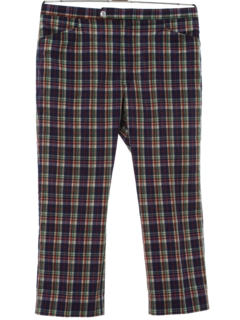 1980's Mens Totally 80s Preppy Plaid Golf Pants