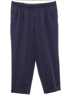 1980's Mens Totally 80s Baggy Pleated Slacks Pants