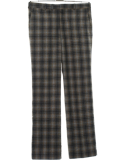 1970's Mens Plaid Wool Slacks Pants