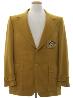 1970's Mens Mod Century 21 Real Estate Disco Blazer Sport Coat Jacket