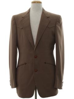 1970's Mens Designer Disco Western Blazer Sport Coat Jacket