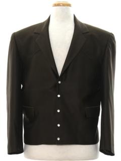 1980's Mens Mod Western Blazer Sport Coat Jacket