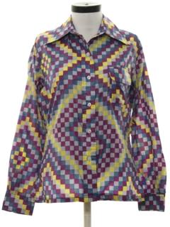 1970's Womens Windbreaker Style Ski Shirt