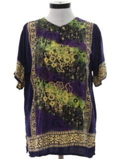1980's Womens Ethnic Hippie Shirt