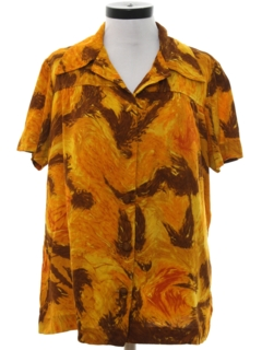 1960's Womens Mod Hawaiian Style Shirt