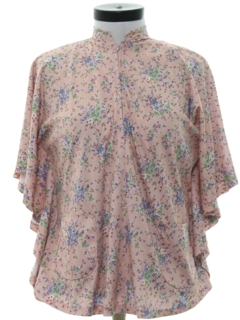 1970's Womens Hippie Style Butterfly Shirt