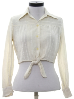 1970's Womens Cropped Hippie Shirt