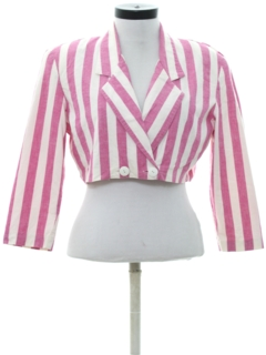 1980's Womens Totally 80s Cropped Shirt-Jac Shirt