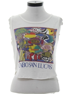 1980's Womens Totally 80s Cropped Travel T-Shirt