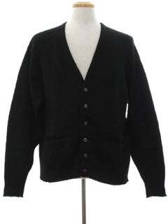 1950's Mens Mod Mohair Cardigan Sweater