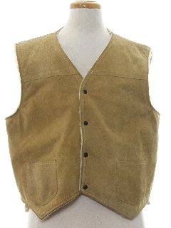 1970's Mens Leather Vest